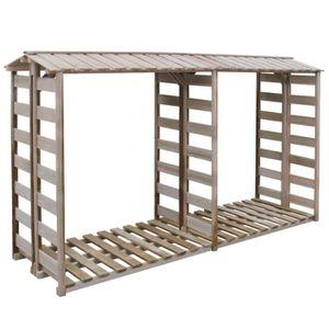 ABRI BÛCHES Abri de stockage du bois de chauffage 300x100x176c