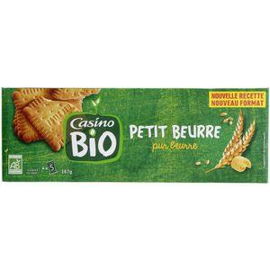 BISCUITS SABLÉS CASINO Petit Beurre Bio - 167G
