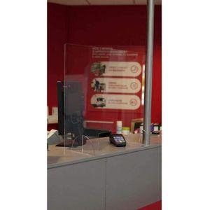 CADRE - PRESENTOIR Hygiaphone protection comptoir caisse plaque trans