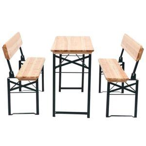 Ensemble table et jardin bois et metal