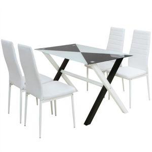 TABLE À MANGER COMPLÈTE vidaXL 5PCS Ensemble 1 Table + 4 Chaise salle à ma