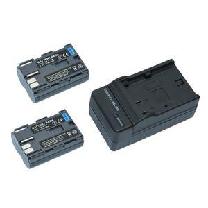 BATTERIE APPAREIL PHOTO Mondpalast ® 2X 1700mAh 7.4V Remplacement Batterie