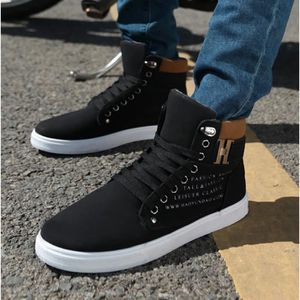 OLALI® Automne Chaussures En Cuir Pour Homme New High Top Casual Chaussures ZTopmjSDe