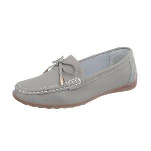 MOCASSIN Chaussures femme mocassins cuir gris 35
