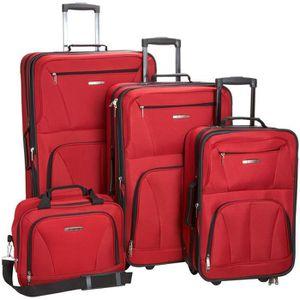 SET DE VALISES Set 3 valises + vanity 4 roues pivotant ROUGE