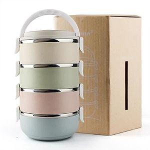 LUNCH BOX - BENTO  SHELOVEIT® 4 Couches Portative Boîte à Repas Déjeu