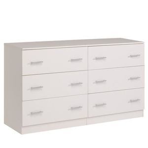 commode 6 tiroir blanc achat vente commode 6 tiroir. Black Bedroom Furniture Sets. Home Design Ideas
