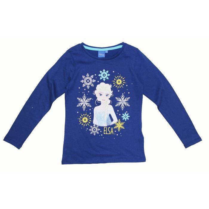 T-SHIRT LA REINE DES NEIGES Tee-shirt Manches Longues Elsa