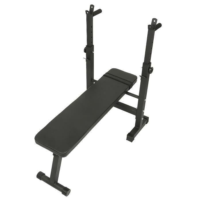 Banc réglable, Banc de Musculation pour l'entraînement Complet du Corps - Banc Pliable Hauteur Réglable Noir