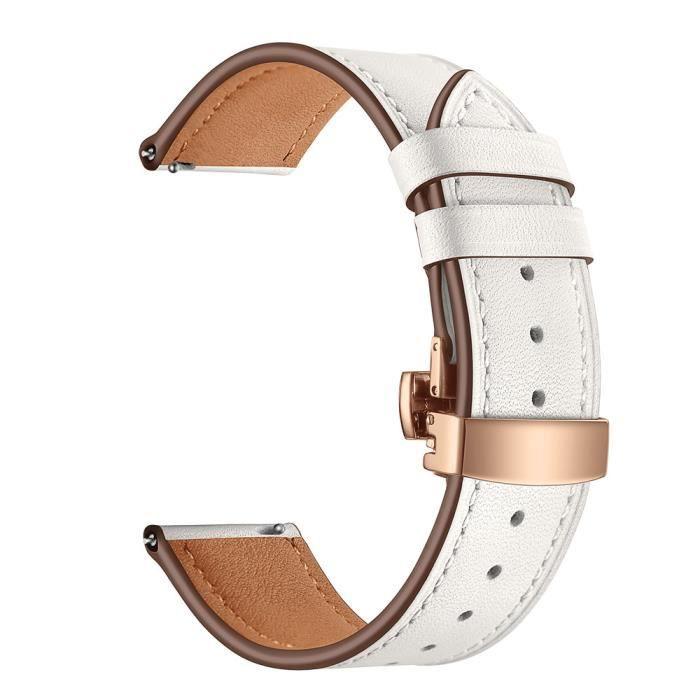bracelet de montre vendu seul Bande de bracelet de montre-bracelet en cuir de boucle de papillon pour IWatch pour Samsung Gear S3