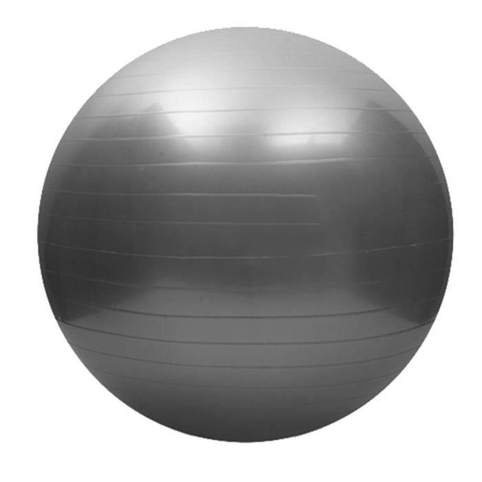 65cm exercice fitness lisse épaississement yoga ball gris