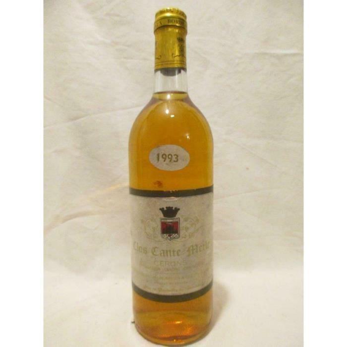 cérons clos cante-merle liquoreux 1993 - bordeaux france