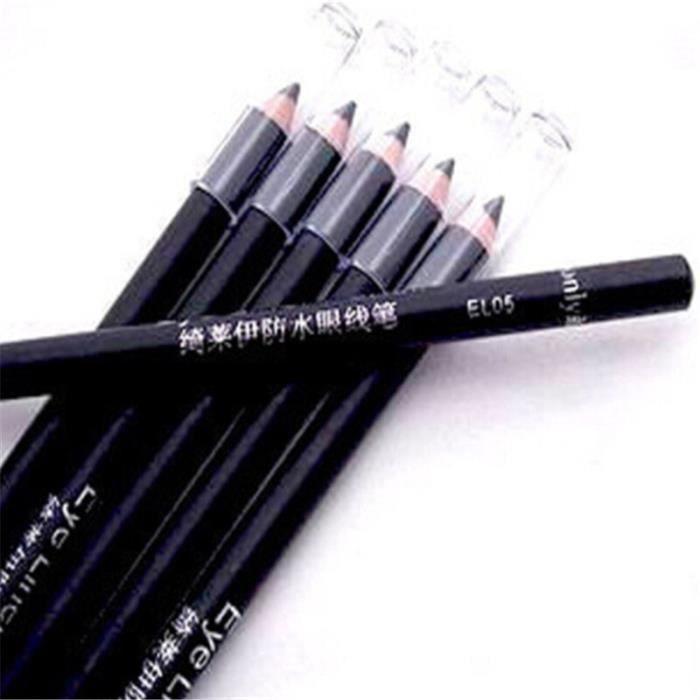 Crayon de maquillage imperméable noir, 2 pièces, crayon Eyeliner, combinaison, haute qualité [164AB57]
