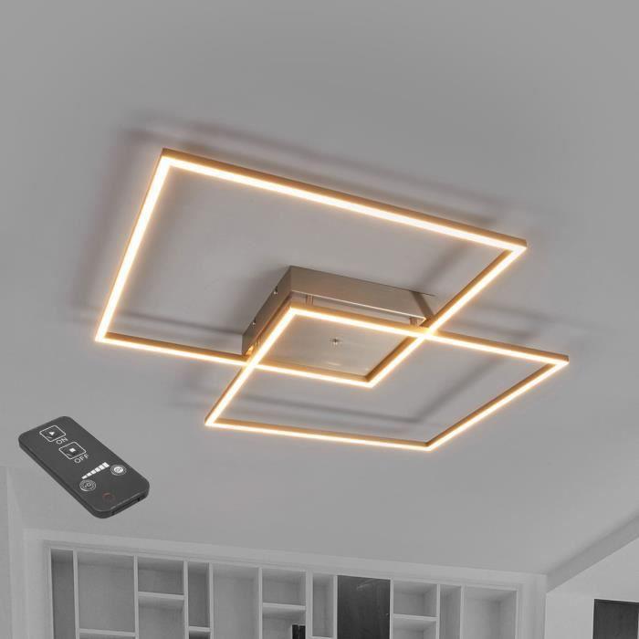 Lampenwelt plafonnier LED à intensité variable pour salon et salle à manger Mirac