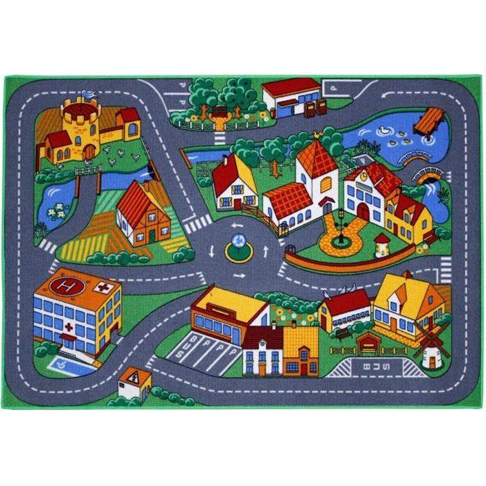 Tapis Enfant Ville et routes 95x133cm