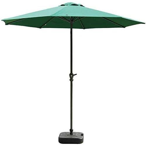 Parasol Parasol de Plage Parapluie De Table De Marcheacute Exteacuterieur De Parasol De Jardin De 9 Pieds 27 M avec Manivelle p472