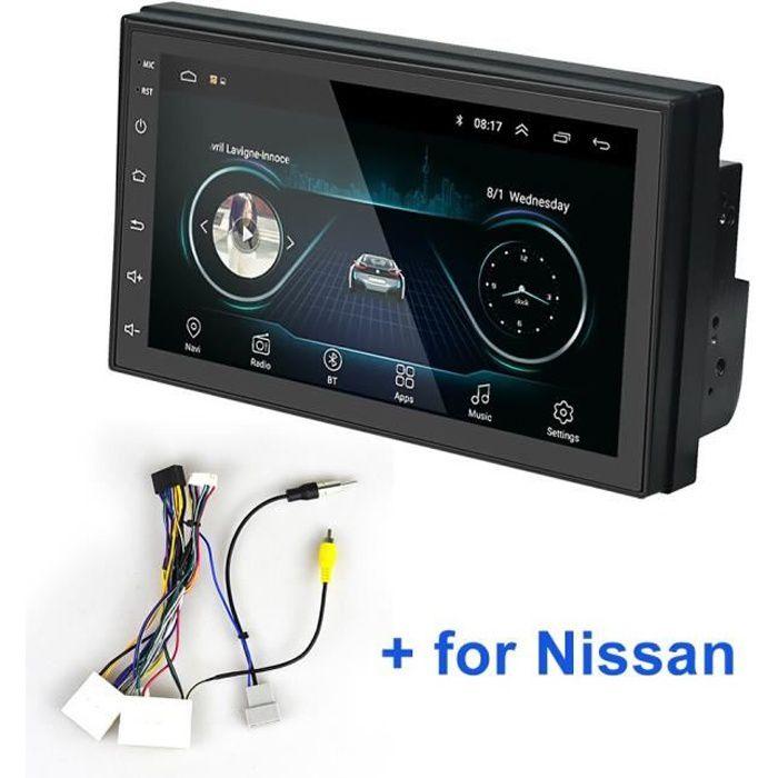 LeeKooLuu Autoradio 2 din Android GPS Navigation Autoradio Bluetooth WIFI MirrorLink stéréo 7- pouces - Type With Nissan cable