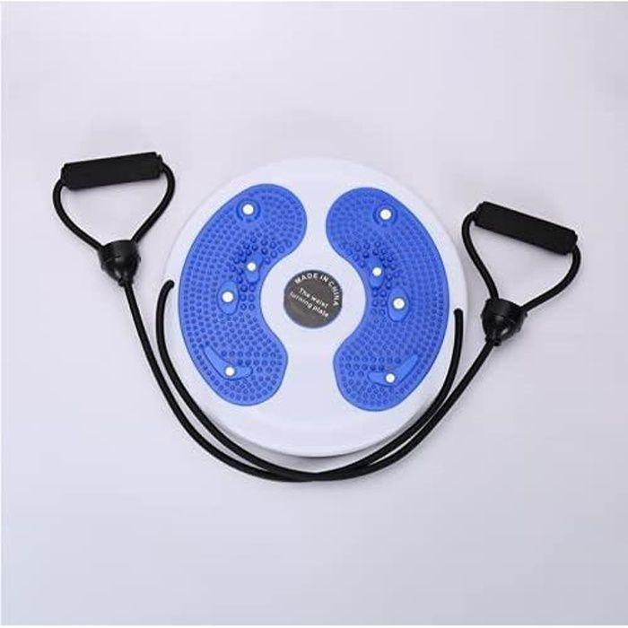 Disque Twist Waist avec corde de traction,planche d'équilibre Wobble Balance Board Plaque Wriggling pour exercices de fitness