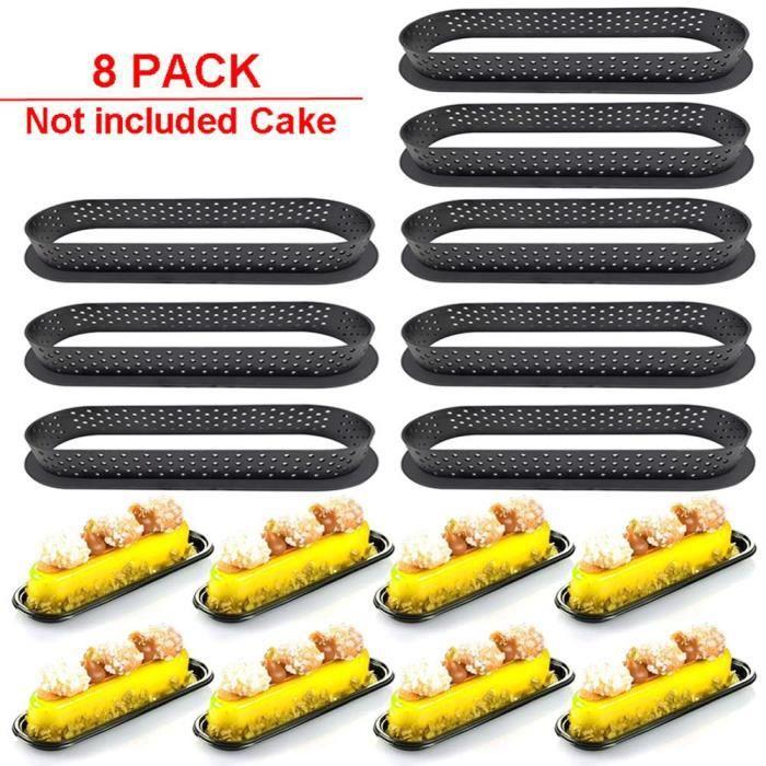 8 pièces moule tartelette cercle tartelette bricolage Silicone moule gâteau outils français Dessert ustensiles de cuisso LX1159