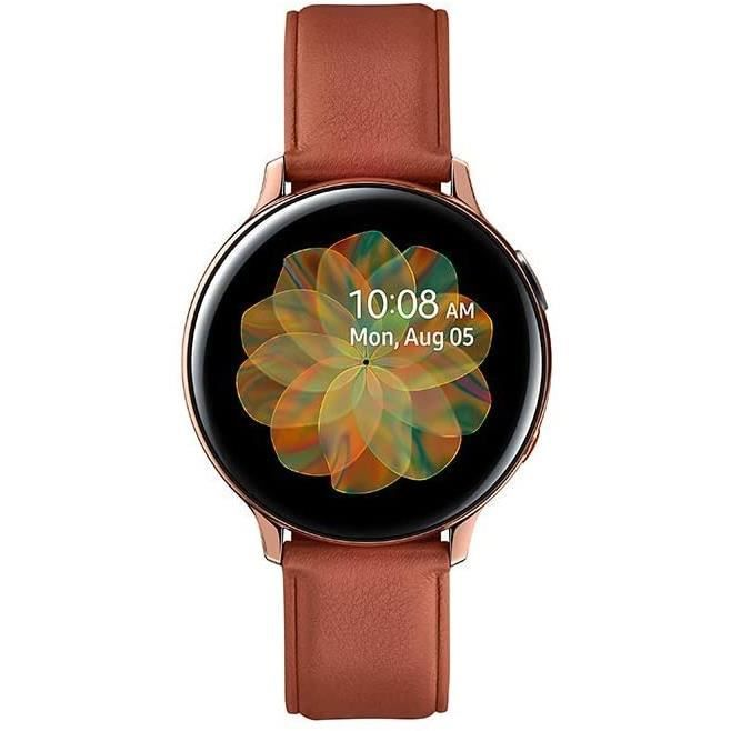 Samsung - Montre Galaxy Watch Active 2 4G - Acier 44 mm - Or - Version Française