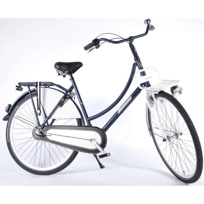 Vélo pour femme Dutch oma salutoni Glamour 28 pouces H50 Shimano Nexus 3 vitesses 95% décorative Bleu Blanc