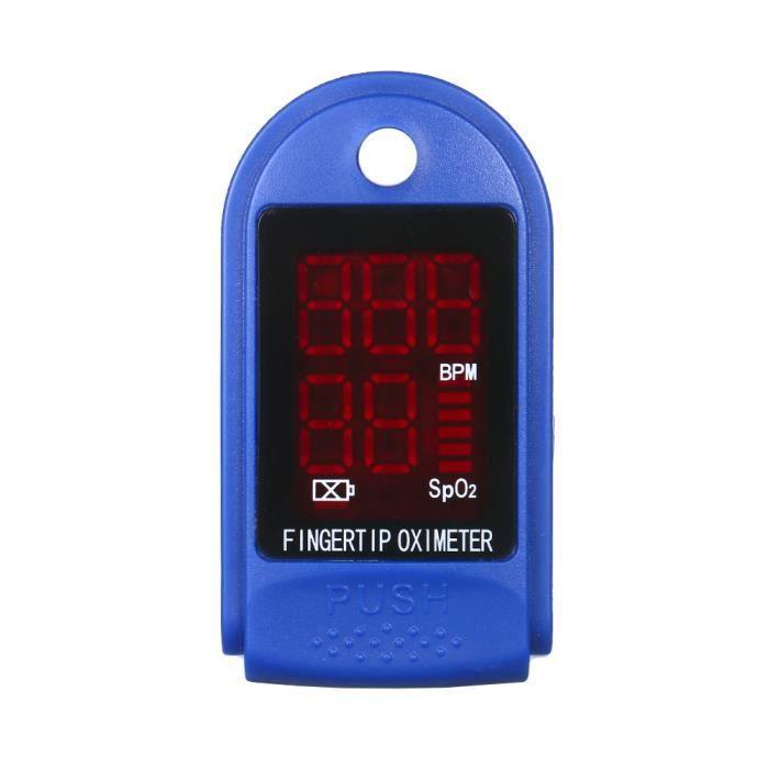 Oxymetre de Doigt, Pouls et Compteur d'oxygène Sanguin de Fréquence cardiaque, LED Lecture Rapide , Livraison Aléatoire Bleu/Jaune