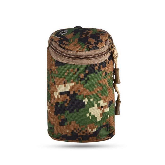 Sac à Ceinture Tactique Militaire Pochette Étui Multifonction Pour Téléphone Clé Sports de Plein Air, Camouflage de Jung