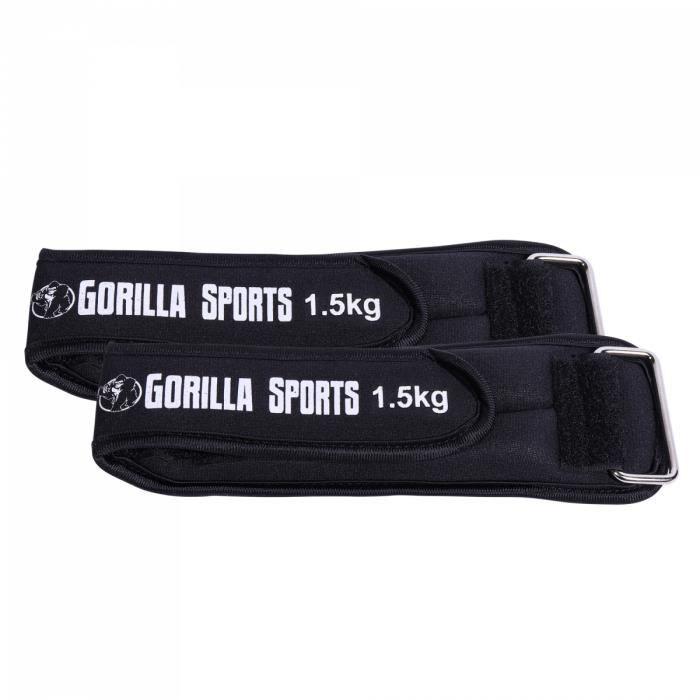 Bandes lestées avec fixation Velcro pour poignets et chevilles - 2 x 1,5 kg