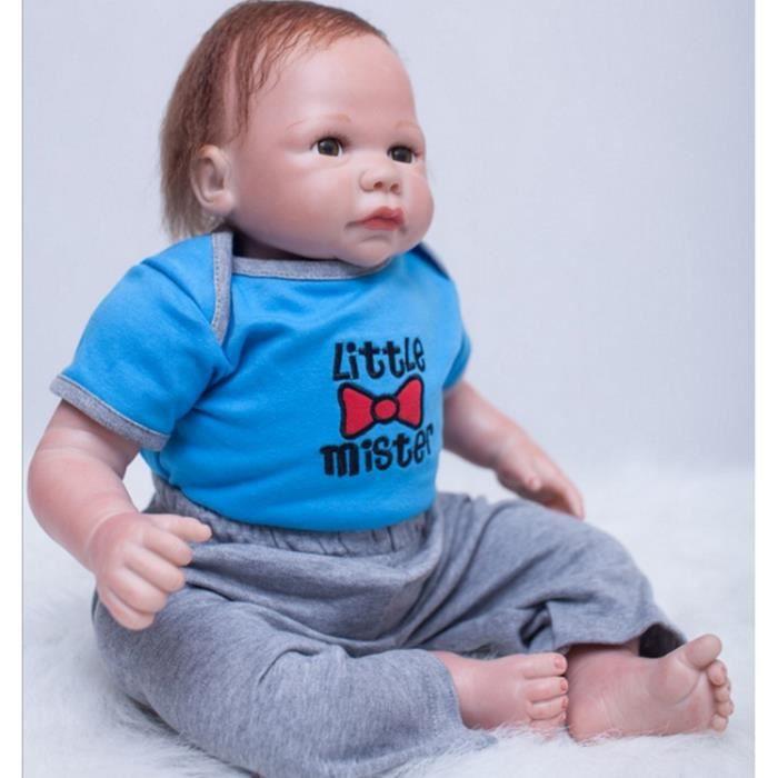 20 Pouces Réaliste Reborn Bébé Poupée Boneca Vivid Bébé Reborn Poupées