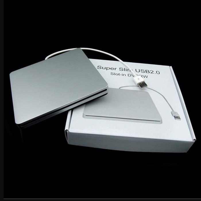 Type d'ordinateur portable Aspiration Super Slim Usb 2.0 Slot En externe Dvd Burner Disques Durs externes Boîtier Boîtier