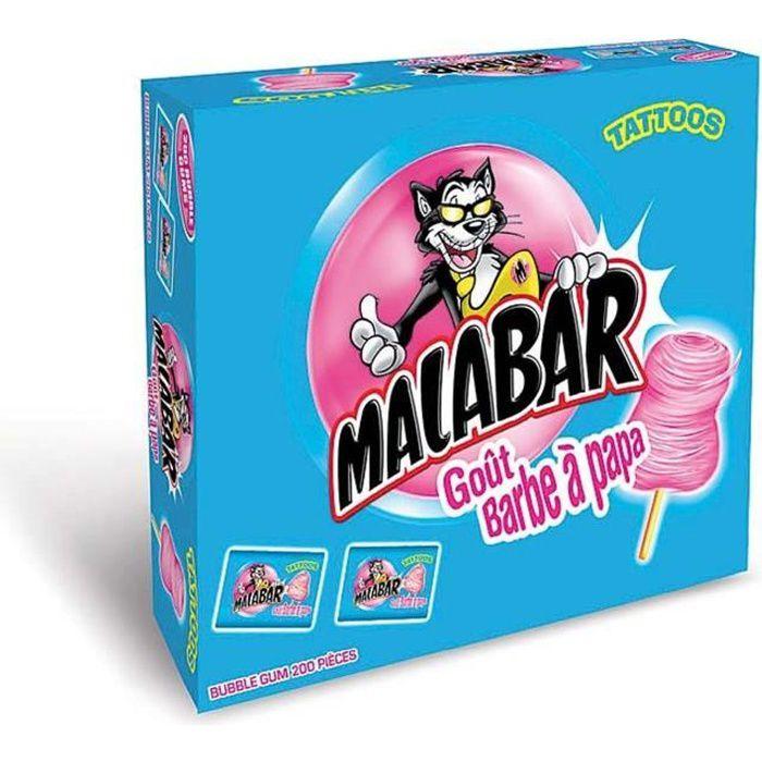 MALABAR Boîte de Chewing-gum Barbe à Papa - 200 pièces