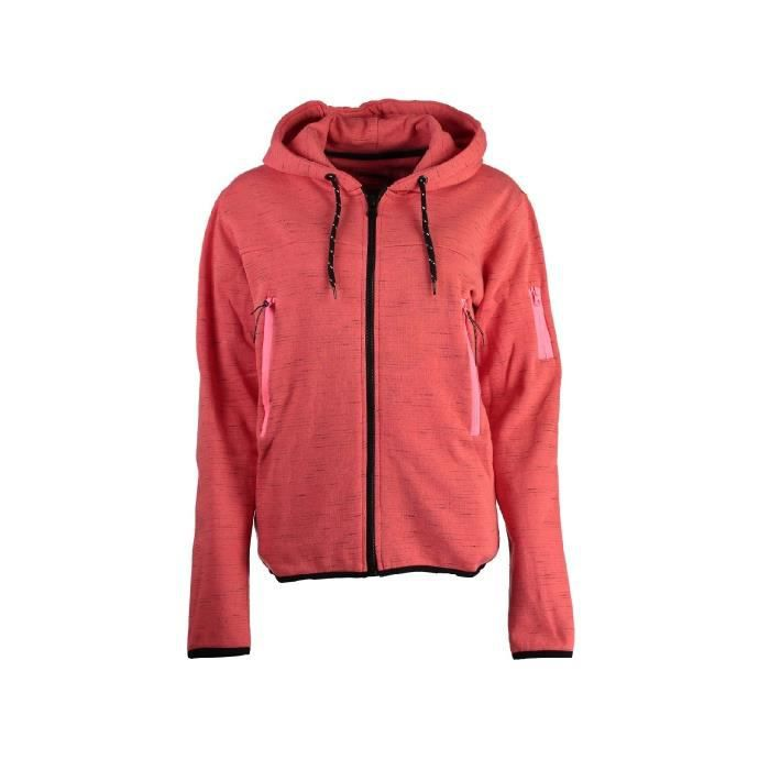 Sweat à capuche Geographical Norway Fashionista Corail