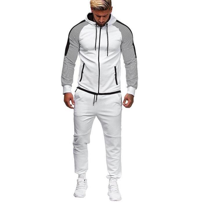 Hommes Automne Gradient Zipper Imprimer Sweat Top Pantalons Ensembles Sport Suit Survêtement ZZS201210741WHL5_yan