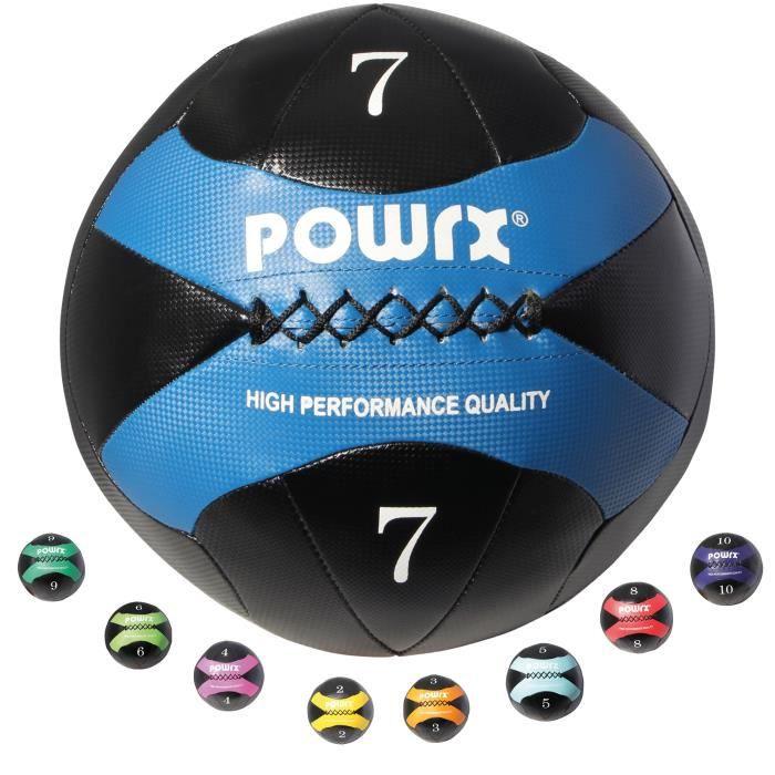Wall-Ball 2-10kg I balle de balle de médecine en différentes couleurs I Entraînement fonctionnel Poids: 7 kg