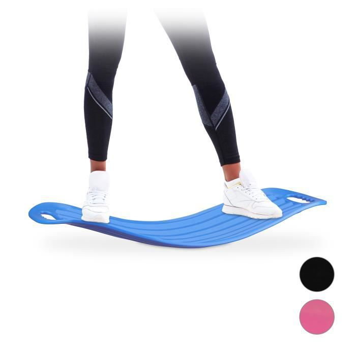 Relaxdays Planche d'équilibre Twist Board Balance Board entraînement fitness muscles abdos jambes 150 kg - 4052025952686