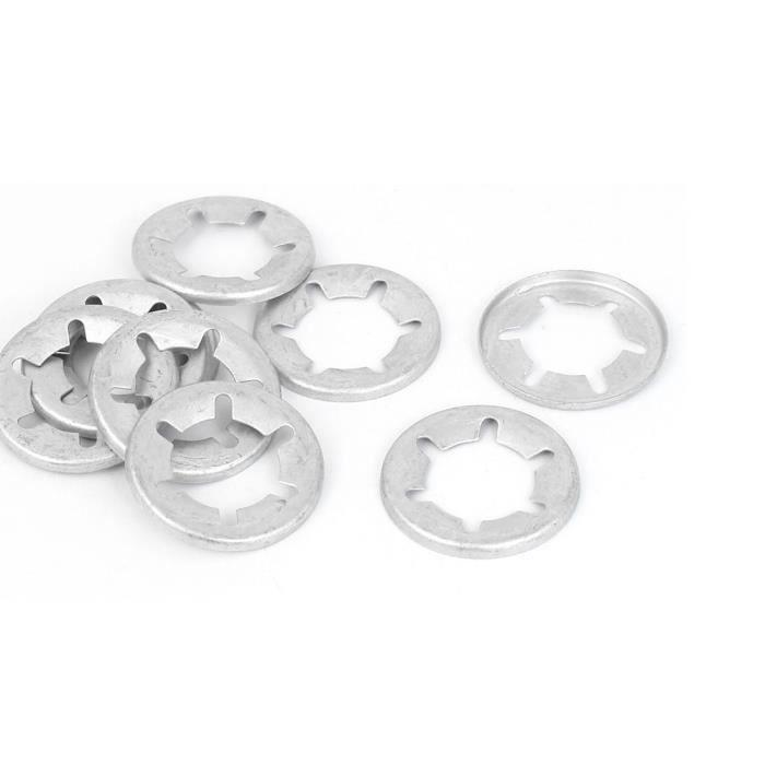 Diamètre intérieur 16 mm acier inoxydable 304 rondelles blocage verrouillage étoile 10 Pcs