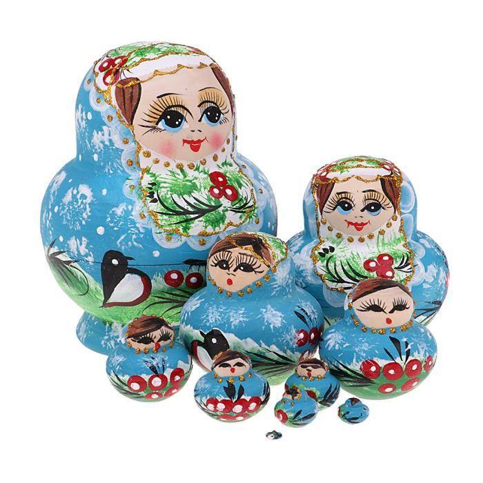 POUPEE 10 poupées gigognes