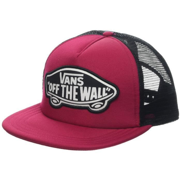 Vans WM Beach Girl Trucker Hat Casquette De Baseball, Rouge (Cerise Sq2), Unique (Taille Fabricant: OS) Femme