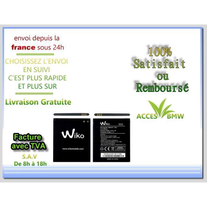 Originale Batterie Wiko 5222 Pour Bloom / Barry/ Rainbow Jam 4G /Pulp 3G/Pulp 4G