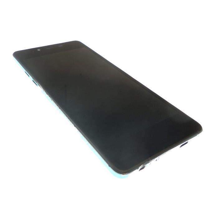 Ecran vitre tactile et LCD assemblés Noir et vert pour Wiko Highway pure