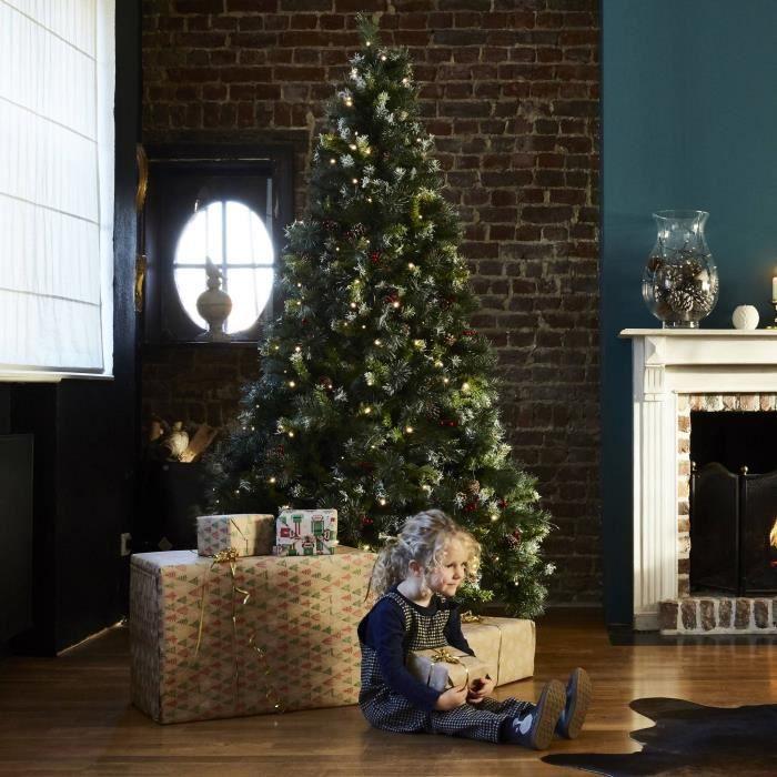 LED-sapin de Noël//Arbre à batteries 23cm hauteur pour Noël au bureau