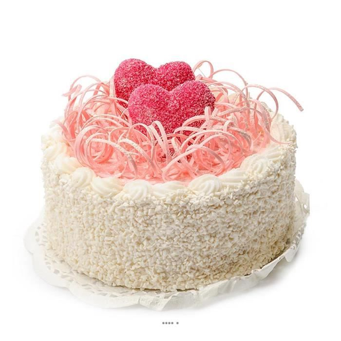 Gateau Rose Aliment Factice H 10 Cm Et D 15 Cm Bluffant En Mousse