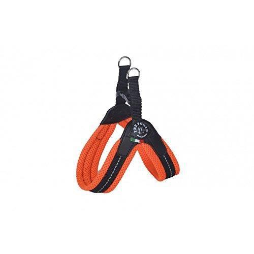 Tre Ponti Easy Fit Fix Neon Harnais pour Chien Orange Taille 1,5