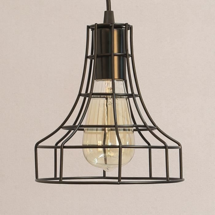 e27 metal industriel suspensions luminaire antique. Black Bedroom Furniture Sets. Home Design Ideas