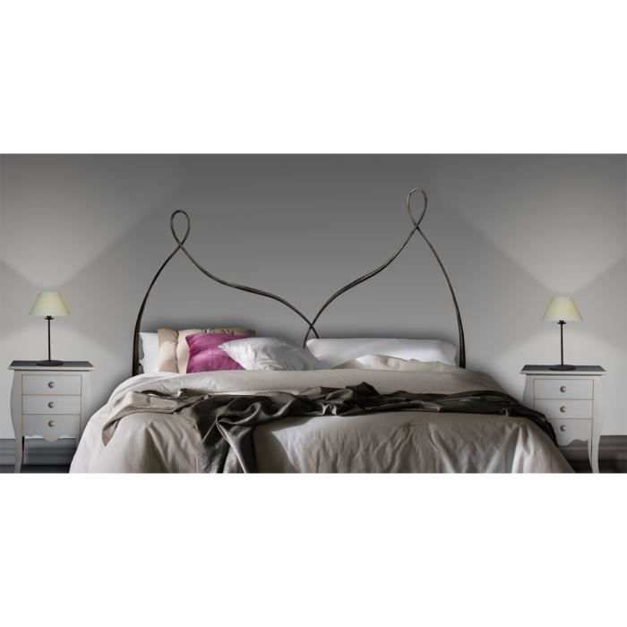t te de lit en fer forg mod le colonia achat vente t te de lit cdiscount. Black Bedroom Furniture Sets. Home Design Ideas