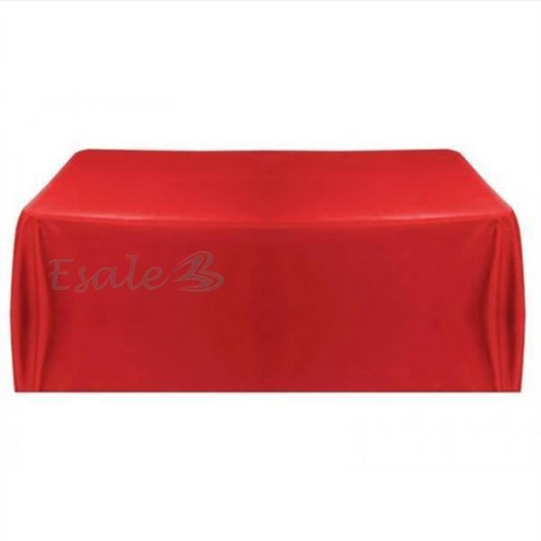 nappe table noeud chaise satin rouge carr pour mariage. Black Bedroom Furniture Sets. Home Design Ideas