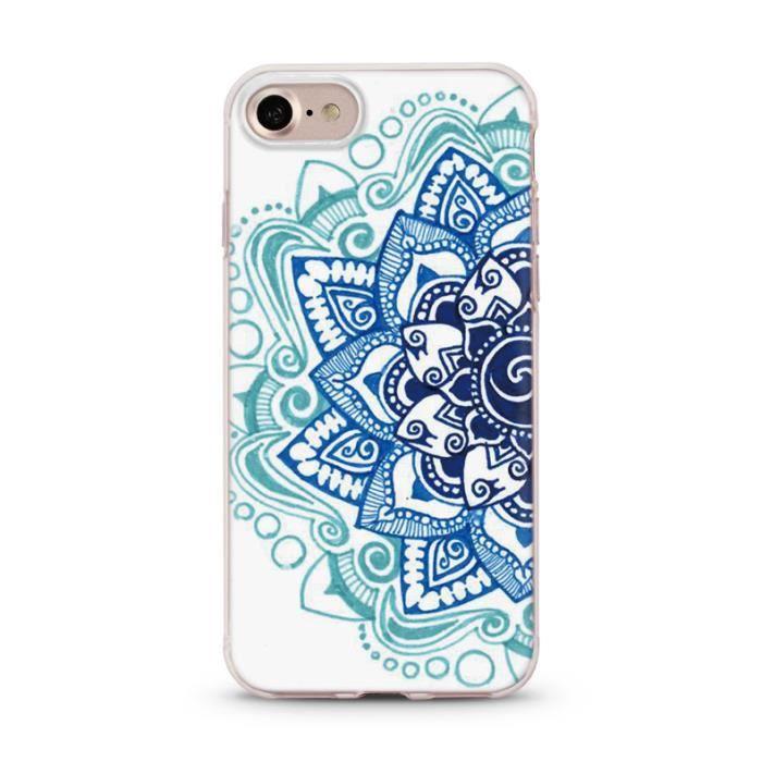 Coque Iphone 6 PLUS Mandala 2 Aztec ethnique Fleur