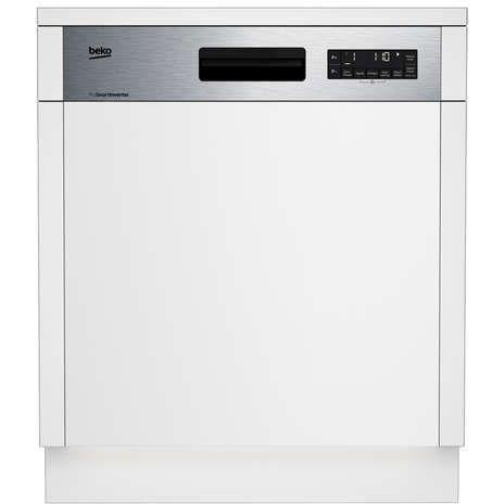 Beko Dsn2842x Lave Vaisselle Encastrable 60 Cm 14 Couverts A 9 5 L Bandeau Inox