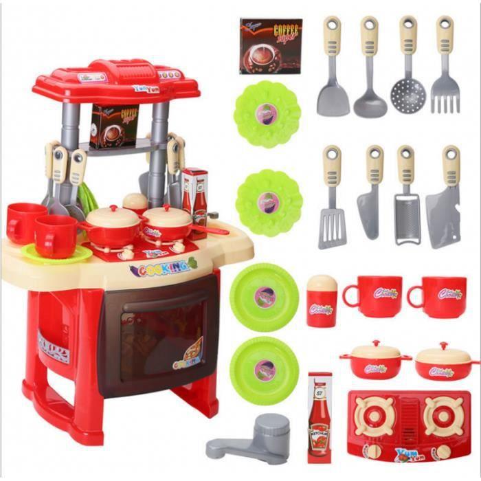 Simulation Cuisine Pour Enfants Avec Effets Sonores Et Lumineux 47 21 37cm Petite Taille Rouge Achat Vente Dinette Cuisine Cdiscount