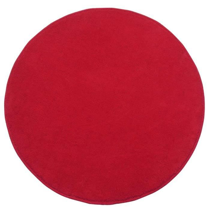 tapis rond tuft coloris rouge 150 cm de diam tre achat vente tapis cdiscount. Black Bedroom Furniture Sets. Home Design Ideas
